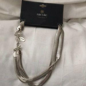 Nicole Miller herringbone necklace